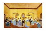 The Colonial Minuet; El Minue Colonial Gicléetryck av Pedro Figari