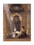 In the Mosque, (Watercolour Heightened with White and Touches of Gum Arabic 63) Giclee Print by Carl Friedrich Heinrich Werner