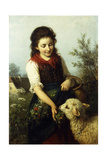 Feeding the Lamb Giclee Print by Rudolf Epp