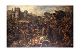 Achilles Confronting Hector Outside Troy Giclee Print by Juan de la Corte