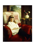 Mildred Wallace as a Young Girl Giclee Print by Thomas Waterman Wood