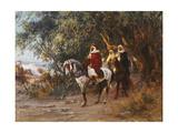 Arabs on Horseback, 1892 Giclee Print by Frederick Arthur Bridgman
