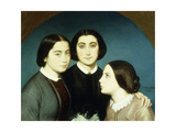 Portrait of the Three Daughters of Charles Naudier, 1854 Giclee Print by Eugene Emmanuel Amaury-Duval