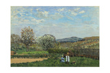 Children Playing in a Field; Enfants Jouant Dans La Prairie, 1873 Giclee Print by Alfred Sisley