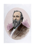 Rutherford B. Hayes (1822-1893). Engraving. Colored Giclee Print