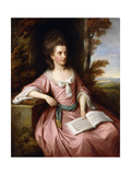 Portrait of Martha Ray (C.1745-1779), Seated Three-Quarter-Length, in a Pink Dress with a Blue… Giclee Print by Nathaniel Dance-Holland