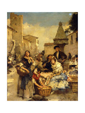 In the Market Giclee Print by Francesco Miralles Galaup