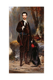 A Huntsman with a Dog, 1876 Giclee Print by Charles Edouard Boutibonne