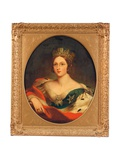Portrait of Queen Victoria Giclee Print by Franz Xaver Winterhalter