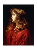 A Golden Haired Beauty Giclee Print by Leopold Schmutzler