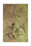 Cupid Drawing an Arrow from a Quiver, in a Landscape Giclee Print by  Guercino (Giovanni Francesco Barbieri)