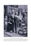 The Coronation of Edward III Ad1327 , 1920's Giclee Print by Richard Caton Woodville II