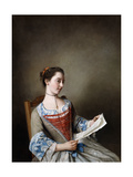 La Belle Liseus: Portrait of Miss Susanna Lewis, Seated, in the Costume of a Lyonnaise Peasant Giclee Print by Jean-Etienne Liotard