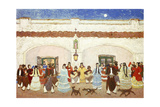 Dancing in the Patio; Baile En El Patio Gicleetryck av Pedro Figari
