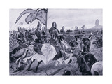The Battle of Crecy Ad1346, 1920's Giclee Print by Richard Caton II Woodville