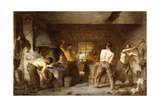 The Blacksmith's Forge Giclee Print by Paul Soyer