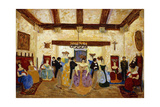 Colonial Meeting; Reunion Colonial Gicleetryck av Pedro Figari