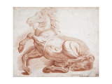 A Fallen Horse Giclee Print by Pietro Dandini