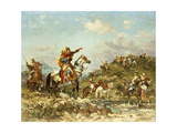 Arab Warriors on Horseback Giclee Print by Georges Washington