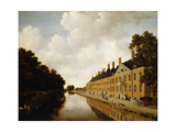 A View of the Princessgracht, the Hague, Looking Towards the Bezuidenhoutsebrug and the Oost… Giclee Print by Joris van der Hagen