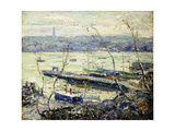On the Hudson Giclee Print by Ernest Lawson