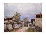 Street at Veneux; Rue a Veneux, 1883 Giclee Print by Alfred Sisley