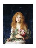 A Fair Rose Giclee Print by Alexei Alexevich Harlamoff