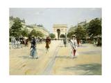 Avenue of the Bois De Boulogne; Avenue Du Bois De Boulogne Giclee Print by Georges Stein
