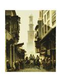 Street Scene in Damascus, 1861 Reproduction procédé giclée par Alberto Pasini