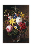 Roses, Lilies, Pansies and Other Flowers in a Vase Giclee Print by Johan Laurents Jensen
