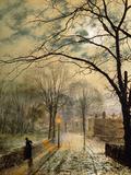 John Atkinson Grimshaw - A Moonlit Stroll, Bonchurch, Isle of Wight, 1878 Digitálně vytištěná reprodukce