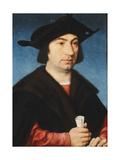 Portrait of Stefano Raggio, Half-Length Giclée-Druck von Joos Van Cleve