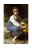 Young Girl with a Pitcher; Jeune Fille a La Cruche, 1885 Giclee Print by William Adolphe Bouguereau
