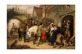 The Departure of Charles II from Bentley in Staffordshire, the House of Colonel Lane Giclee Print by Charles Landseer