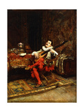 The Lute Player, 1887 Giclee Print by Jean-Louis Ernest Meissonier