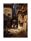 The Post; Die Post, C.1875-1880 Gicleetryck av Carl Spitzweg