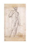 A Nude Holding a Cape over His Shoudlers Giclée-tryk af Fra Bartolommeo