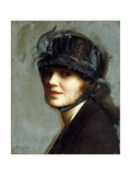 Portrait of Charlotte Morgan McFadden Giclee Print by William McGregor Paxton