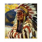 Walter Ufer - Chief Thundercloud Digitálně vytištěná reprodukce