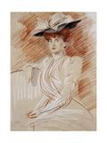 Madame Helleu Au Chapeau Giclee Print by Paul Cesar Helleu