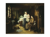 Grandfather's Visit, 1889 Giclee Print by Otto Piltz
