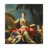 The Personification of Asia Giclee Print by Guillaume-Thomas-Raphael Taraval