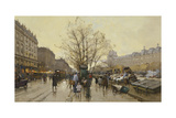 The Docks of Paris; Les Quais a Paris Giclee Print by Eugene Galien-Laloue