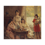 Tea Time; L'Heure Du The Giclee Print by Albert Lynch
