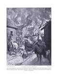 Canterbury Burned by the Danes Ad851, 1920's Giclee Print by Alfred Pearse