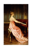 Elegant Lady Seated at Piano-Forte Giclee Print by Joseph Frederic Soulacroix
