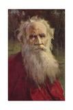 Leo Tolstoy, Russian Novelist Giclee Print by Jan Styka