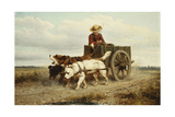 The Dog Cart Giclee Print by Henriette Ronner-Knip
