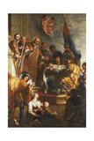 Saint Bernard Converts a Duke of Aquitaine Giclee Print by Gaspar de Crayer