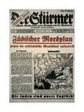 Weekly Paper Der Sturmer, May 1934. Front Page Giclee Print